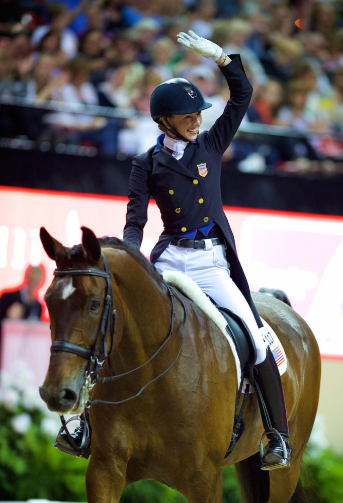 Laura Graves was the best-placed American with Verdades in the Reem Acra FEI World Cup™ Dressage Final in Las Vegas (USA). ©FEI/Arnd Bronkorst